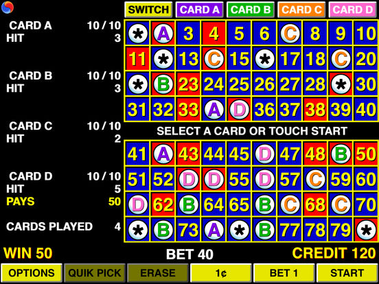 Keno 4 Multi Card - Las Vegas Casino iPad Screenshot 2