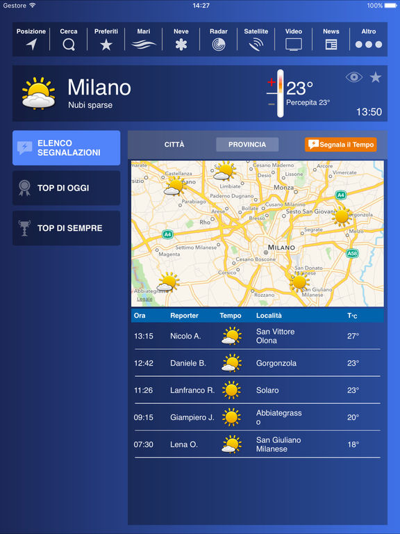 Weather HD Plus - Forecast by iLMeteo Screenshots