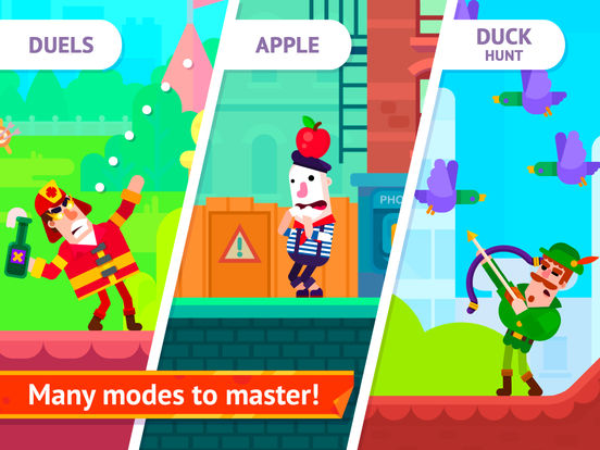 Screenshots of Bowmasters - Top Multiplayer Bowman Game for iPad