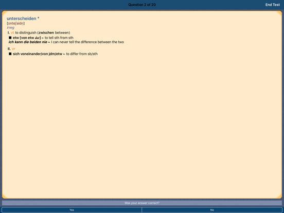 PONS Standard Dictionary English <-> German iPad Screenshot 5