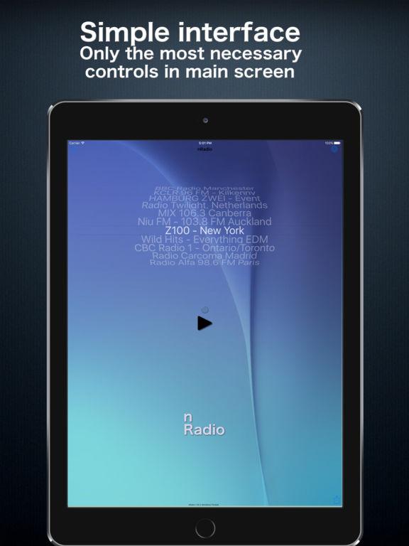 nRadio - Not just another Internet Radio app screenshot