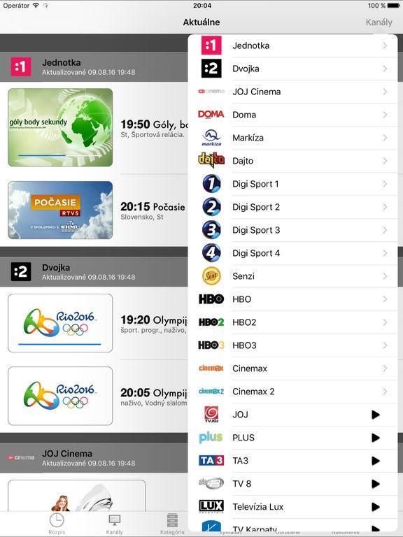 Slovak TV+ Screenshots