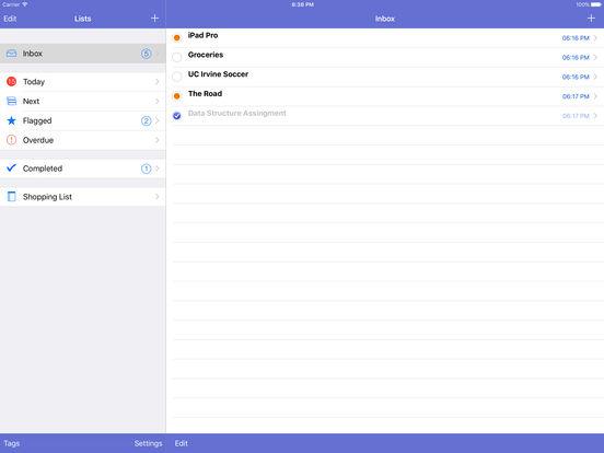 To Do's List for iPad iPad Screenshot 1