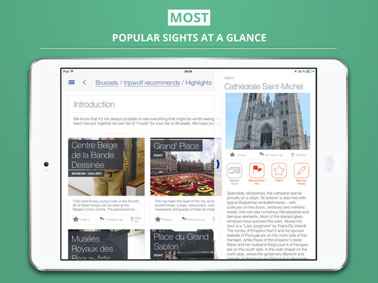 Brussels City tripwolf Travel Guide iPad Screenshot 2