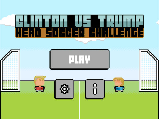 Clinton vs Trump Head Soccer Challenge on the App Store