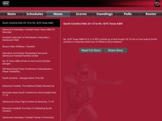 South Carolina College SuperFans iPad Screenshot 3