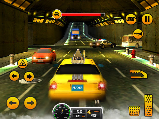 Taxi Driver 3D-Extreme Taxi driving & parking game Скриншоты8