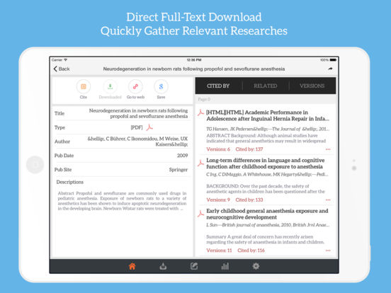 GoScholar for Google Scholar: Download Article App Screenshots