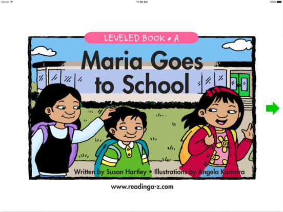 Maria Goes to School - LAZ Reader [Level A-kindergarten] iPad Screenshot 1