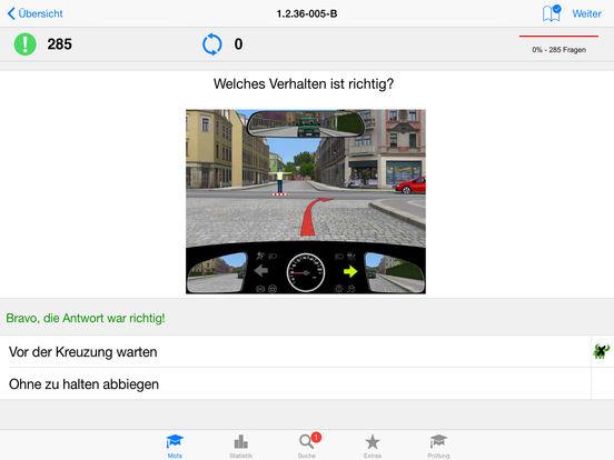 Mofaführerschein iPad Screenshot 2