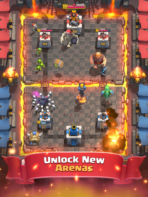 Screenshots of Clash Royale for iPad