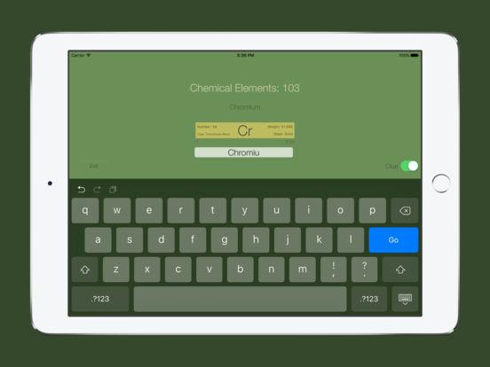 Chemical Elements Trainer iPad Screenshot 2