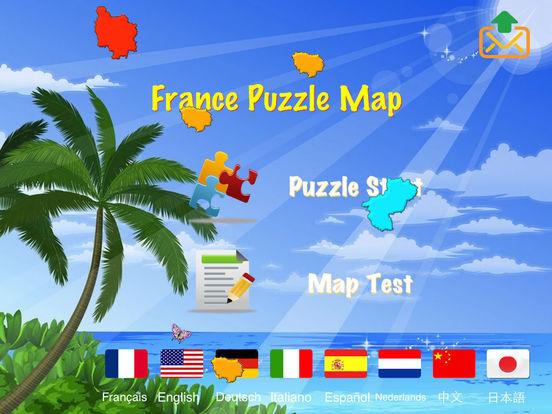 France Puzzle Map iPad Screenshot 2