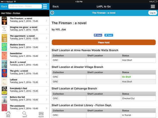 LAPL to Go iPad Screenshot 2