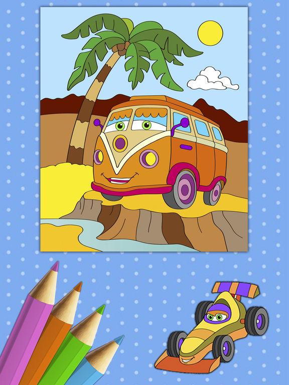 Автомобили Книжка-раскраска - Премиум Скриншоты7