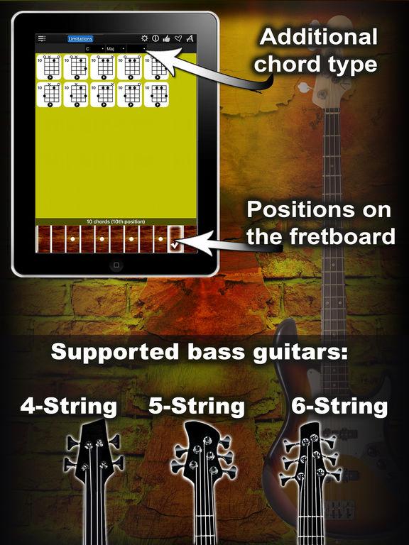 App Shopper: Bass Chords Compass Lite - learn the chord charts (Music)