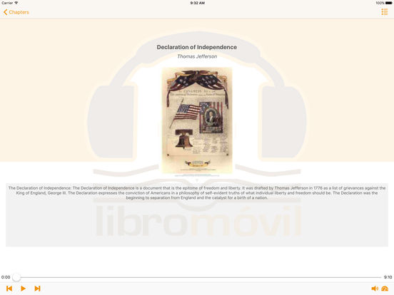 Historical Documents of The United States - AudioBook iPad Screenshot 2
