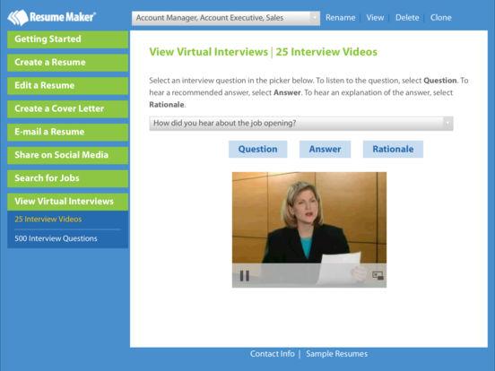 Resume Maker® Platinum Screenshots