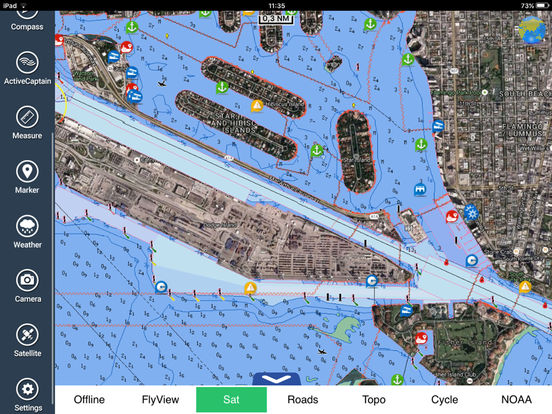 Marine: Louisiana-Mississippi-Alabama HD iPad Screenshot 3