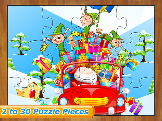 Happy Christmas Time with Santa Claus, Snowman, Elf, Reindeer Jigsaw Puzzles: Fun Educational Game for Kids and Toddlers screenshot 8