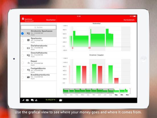 S-Finanzstatus für iPad - Mobile Banking mit der Sparkasse iPad Screenshot 5