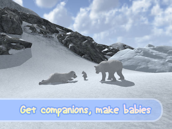 Wild White Polar Bear Simulator Full screenshot 7