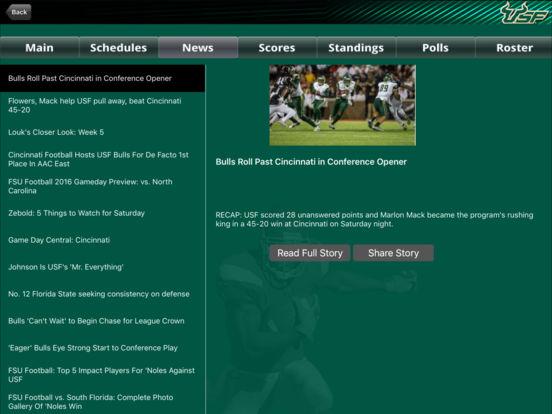 South Florida Bulls College SuperFans iPad Screenshot 3