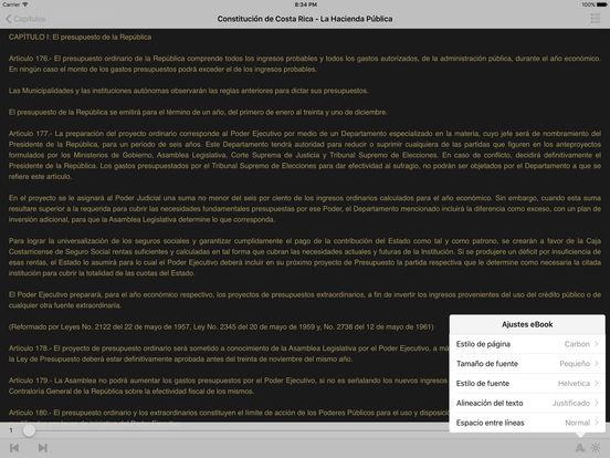 Constitución de Costa Rica iPad Screenshot 1