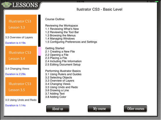 Illustrator CS3 HD Video Training iPad Screenshot 3