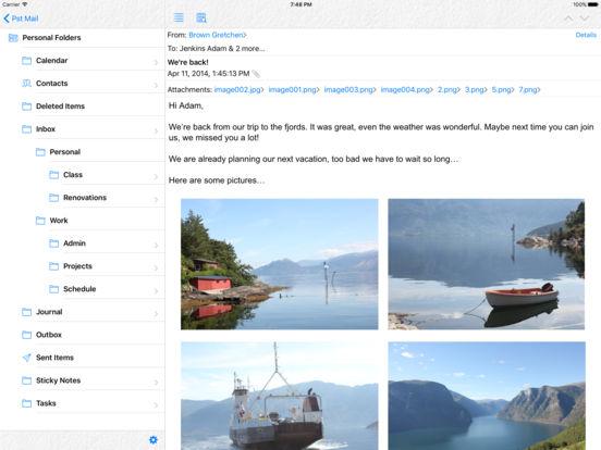 Pst Mail iPad Screenshot 1