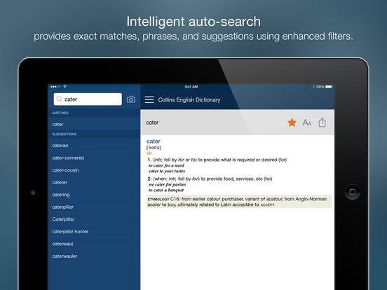 Collins English Dictionary Unabridged iPad Screenshot 2