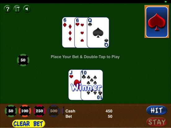 iBlackJack HD iPad Screenshot 1