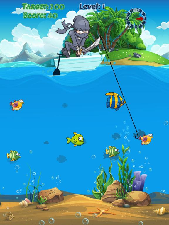 App shopper ninja fishing catch fish adventure fishing for Fish catching games