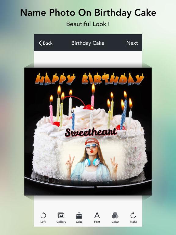 App Shopper: Name Photo on Birthday Cake free (Photography)