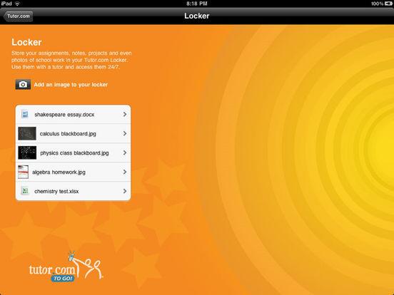 Tutor.com To Go iPad Screenshot 4