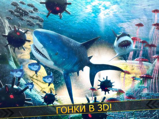 злой акула | бесплатные акулы рыбалка гонка на iPad