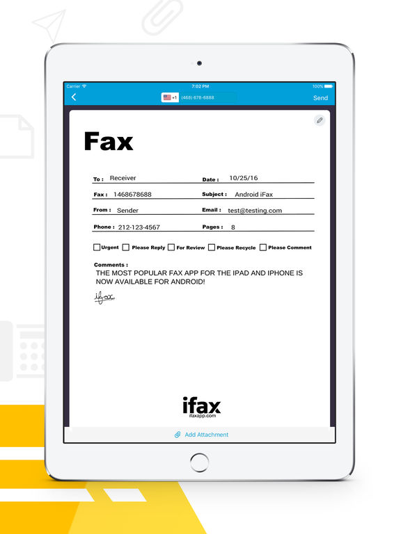 receive fax on iphone ifax send fax amp receive fax for iphone or on the 15929