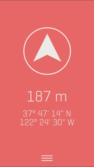 Screenshot Alti - Minimaliste Altimètre & Boussole de Voyage