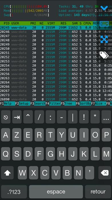 Screenshot WebSSH Pro - SSH & SFTP