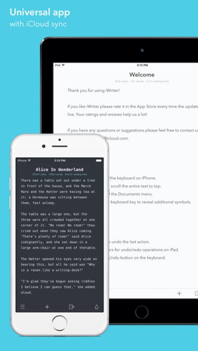 Screenshot iWriter