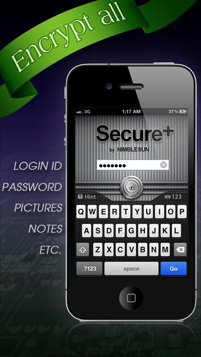 Screenshot Secure+ password manager