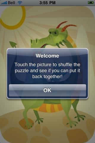 Magic Dragon Slide Puzzle screenshot #2