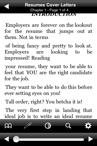 The Professional Approach to Resumes and Cover Letters screenshot #3
