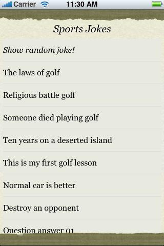 Sports Jokes screenshot #3