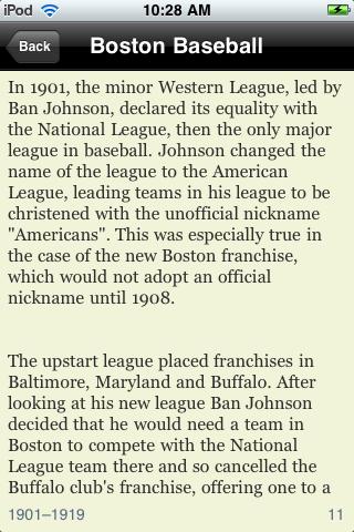 Baseball History screenshot #2