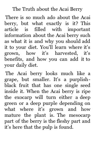 The Truth About the Acai Berry screenshot #3