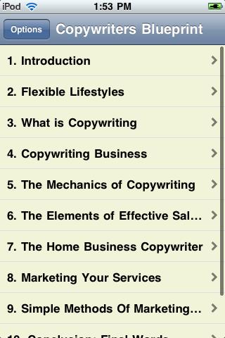 Copywriters Blueprint screenshot #2