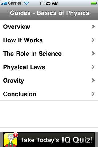 iGuides - Basics of Physics screenshot #2