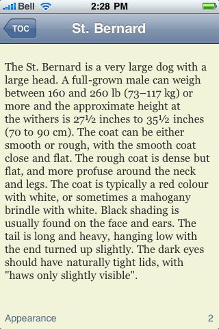 The Saint Bernard Book screenshot #2