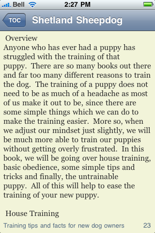The Shetland Sheepdog Terrier Book screenshot #3